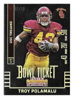 2015 Troy Polamalu Panini Contenders Draft Bowl Ticket /99 - Pittsburgh Steelers