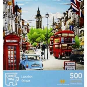 London Street 500 Piece Jigsaw Puzzle, Toys & Games, Brand New