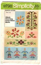1970s Vintage Simplicity EMBROIDERY TRANSFER FOR CROSS STITCH 9798 UNCUT