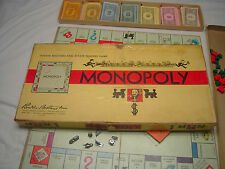 Monopoly 1946 Board Game with a Rule booklet  for short playing version Used