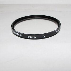 Used Quantaray UV 58mm Lens Filter Made in Japan S232552