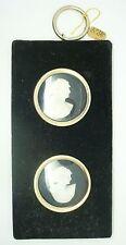 Velvet Black Frame with Shell Cameos (#J2443)