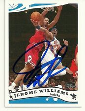 2005-2006 TOPPS BASKETBALL  - JEROME WILLIAMS AUTO - #64 - KNICKS - HAND SIGNED