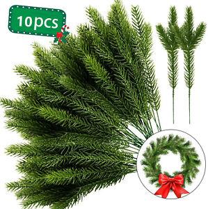 10 Packs Artificial Pine Needles Branches Garland-Green Plants  DIY Garland