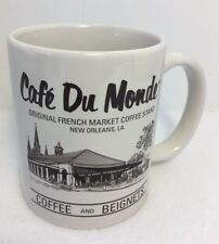 Cafe Du Monde Coffee Mug New Orleans French Market Stand 11 oz Coffee & Beignets