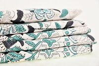 Cotton Fabric Indian Hand Block Print Supply Craft Material Sewing By 5 Metre