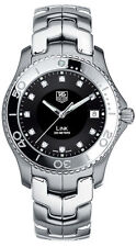 WJ1113.BA0570 Tag Heuer Link  Mens Black Dial Stainless Steel Quartz Watch