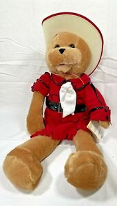 NWT New Chantilly Lane Singing Cowgirl Bear Kitty Red Never Ending Song of Love