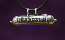Tibet 925 Sterling plata 'om mani padme hum' ghau remolque mahometana Gau Box