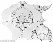 Waterjet Victorian Design Polished Marmera & Thassos Marble Mosaic Tile- 10 Pack