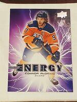 2019-20 Upper Deck Pure series1 Energy #PE5 Connor McDavid M/NM Edmonton Oilers