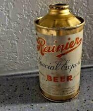 """Vintage Rainier """"Special Export"""" Beer ~ Low Profile Cone Top Beer Can ~ 1939"""