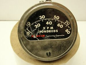 Radson Dash Tachometer Original Vintage Accessory Custom Ford Chevy Dodge GMC
