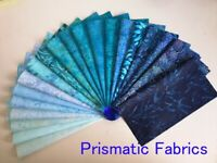 """40 x Batik Fabric Quilting Craft Sewing Layer Cakes 10"""" x 10"""" inch Squares Blue"""