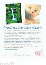 PUBLICITE ADVERTISING 096  1999  Vivendi   téléphonie téléphone mobile *