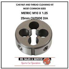 M10 x 1.25 Metric Button Die 25mm Outside Diameter (TAP AND DIE SET)