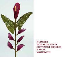 bomboniera matrimonio fiore finto calla rossa con 5 petali portaconfetti; cm 45
