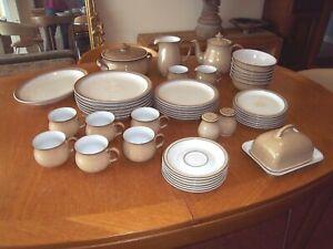 Denby Viceroy taupe beige white job lot 45 bits stoneware dinner service tea set