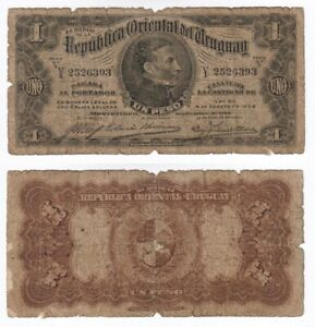 Uruguay 1 Peso Banknote from 1914