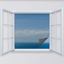 Fliegengitter Insektenschutz für Fenster inklusive Befestigungsband Insektennetz