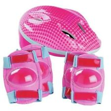 Bike Helmet and Pad Set - Girls Elbow Pads And Knee Pads To Protect Against Bump
