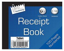 24 Duplicate Receipt Book Numbered Pages 1-80 + 2 Sheets Carbon Paper 100 pages