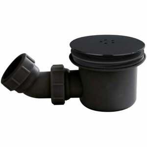 90mm Black Fast Flow Shower Tray Waste Trap