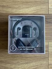 BRAND NEW INTEMPO BLUETOOTH HEADPHONES AND TWS EARPHONES GIFT SET - ROSE GOLD