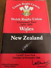Wales V New Zealand /11/1980