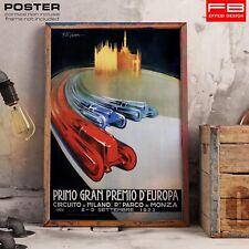 POSTER Locandina Primo Gran Premio D'Europa Circuito di Milano 1923 Regio Parco