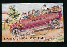 Somerset WELLS Novelty Pocket Charabanc comic downhill PPC by Photochrom