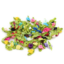 100PCS Rosa Seda Artificial Flor a granel Cabezas de Flores Boda Fiesta Crafts Decort