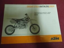 SPARE PARTS MANUAL CHASSIS +ENGINE KTM 65 SX ANNEE 2004 ART. 3.208.115  6/03