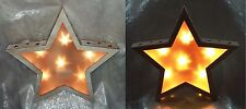Wooden LED wall mountable star light christmas decoration 36cm rustic style-NEW