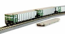 Kato N Scale Bethgon Covered Gondola 8-Car Burlington BN Set #1 1064650