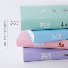 1pc 365 DAYS Planner Agenda Scheduler Hard Cover Journal Study Notebook Diary