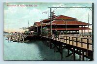 Playa Del Rey, CA - TROLLEY TRAIN DEPOT AUDITORIUM - EARLY 1900s POSTCARD