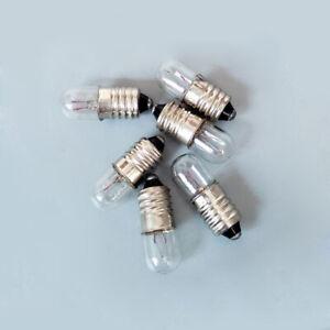 2x E10 Screw Lamp Miniature Signal Indicator Warning Light Bulb 6.3V~36V 1.5W~5W