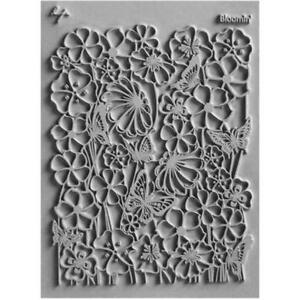 Lisa Pavelka Texture Stamp Mold Sheet Mat Polymer Clay BLOOMIN Made in USA