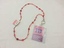 StyleWear Fashion ID Colorful Badge Necklace - Red NWT R$12.99