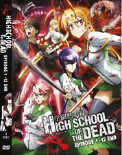DVD ANIME High School Of The Dead Vol.1-12 End ENGLISH DUBBED Reg All + FREE DVD