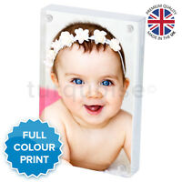 Personalised Mini Acrylic Photo Block Picture Frame Gift Vision Blox | 70 x 45mm