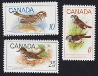 Birds SPARROW = Canada 1969 #496-498 MNH-VF set of 3