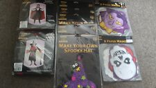 halloween vampire/witch   costume  make your own spooky hat  and paper  masks