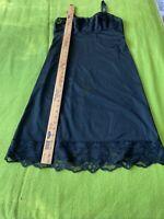 VINTAGE Vanity Fair  BLACK full slip size 34