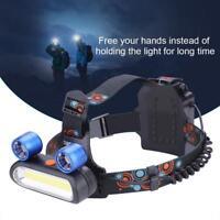 150000 Lumen Lampada da Testa Frontale COB LED USB Ricaricabile Torcia Luce