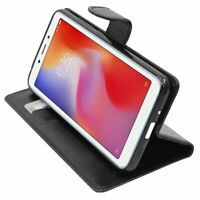 Coque Xiaomi Redmi 6 6A Etui Portefeuille Housse PU Cuir Porte-Cartes, Noir