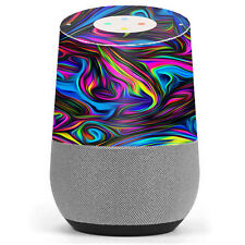 Skin Decal Vinyl Wrap for Google Home stickers skins cover/ Neon Color Swirl Gl