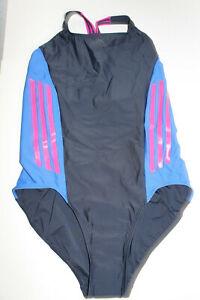 Badenanzug von Adidas dunkelblau, blau, pink Gr. 44 NEU (#227)