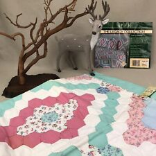"""""""Field of Diamonds"""" Quilted Pillow Shams Vintage Arch Quilts Handmade Patchwork"""